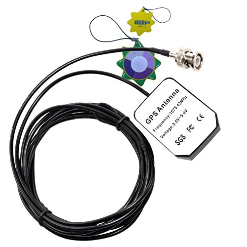 HQRP Antena Externa GPS para Garmin GPS 120 / 120XL / 125 Sounder / 128/135 / 205 / GPSCOM 170 + HQRP medidor del Sol