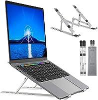 ノートパソコンスタンド 折りたたみ式 ラップトップスタンド PCスタンド iPadスタンド 7段の高さ調節可能 パソコン スタンド 卓上 放熱 冷 却 縦置 軽量 放熱性タブレット スタンド 30KG荷重 10~17.3インチに対応...