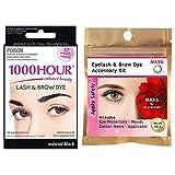 1000 Hour Eyelash & Brow Tint Kit Mascara (Black) (With Accessory Pack)