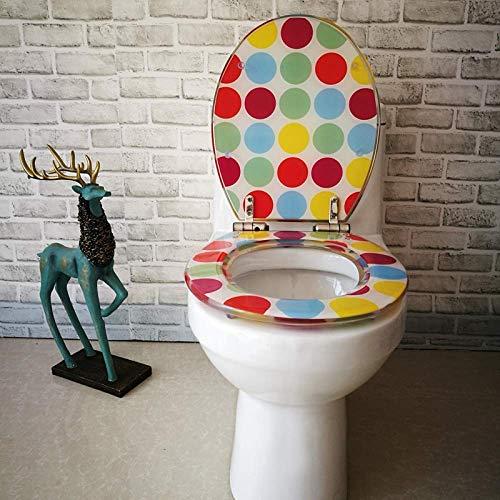 GFF Toilettensitz Kreativer Toilettendeckel mit leicht zu reinigendem Deckel Feste Toilettensitzabdeckung Verdickter Badezimmerdeckel Für V/U/O-Form Universal, OneColor-40~48cm * 33~38cm