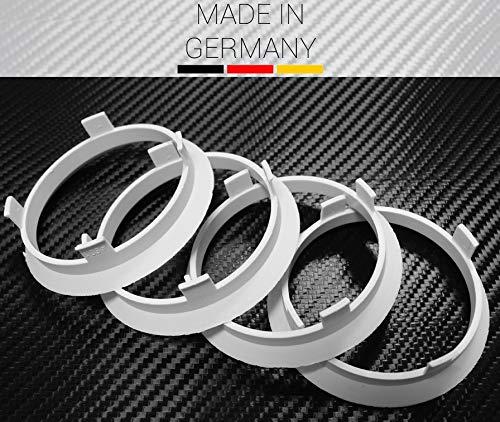 4 X Zentrierring 60,1 mm x 56,6 mm Weiss für AEZ Dezent Dotz und Enzo
