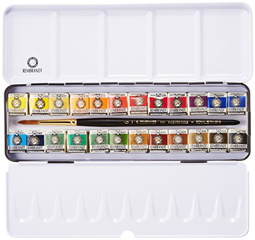 Rembrandt Watercolour Metal Deluxe Set of 24 Pans