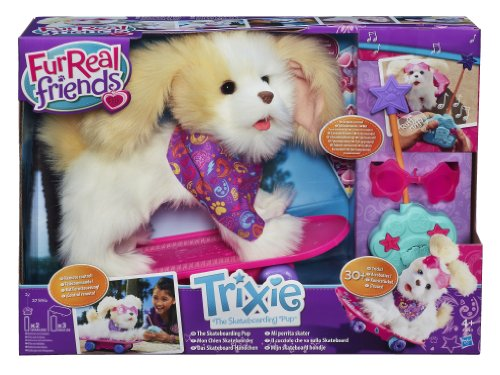 Hasbro A1649E24 - FurReal Friends Trixie, der Skateboard Hund