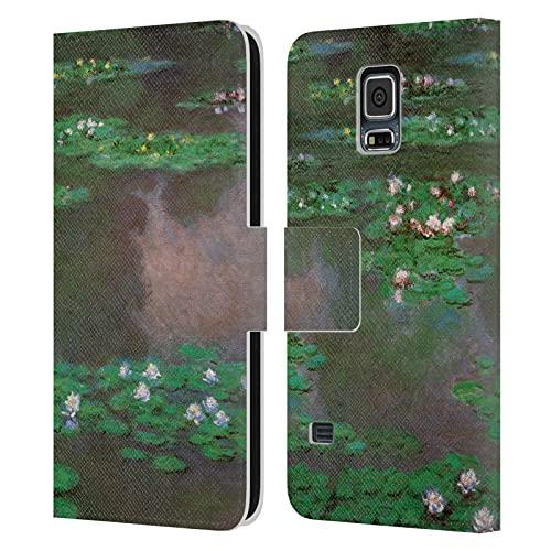 Head Case Designs Licenciado Oficialmente Masters Collection Lirios de Agua 1 Pinturas 2 Carcasa de Cuero Tipo Libro Compatible con Samsung Galaxy S5 / S5 Neo