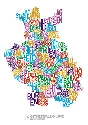 A1-Poster Ostwestfalen-Lippe in Worte gefasst (weiß)