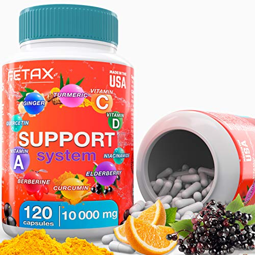 Men's Multivitamin for Women with Vitamin D 2000 iu C 500mg A - berberine supplement curcumin turmeric pills ginger root capsules elderberry tea - vitamins for immune system support booster for adults