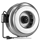 iPower GLFANXINLINE12V2 12 Inch 1080 CFM Inline Duct HVAC Vent Blower Fan for Grow Tent, silver