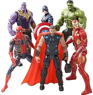 Superhero Adventures Ultimate Super Hero Set - 6 PCS Action Figure Set - Superhero Action Figures - Children's Toys - Hero Suit Cake Topper - 6inch