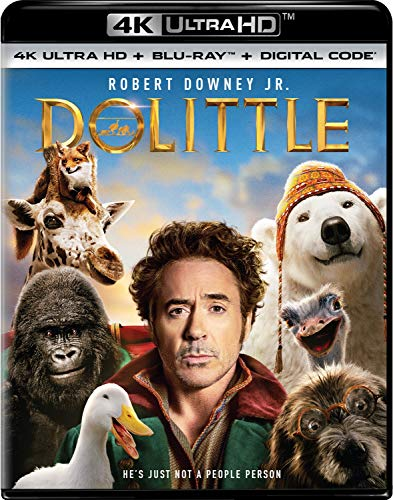 Dolittle 4K UHD + Blu-ray + Digital HD  $9.96 at Amazon