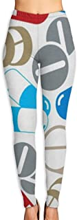 ZYZILYSBS Pills Pattern Women's High Waist Yoga Pants Tummy Control Leggings