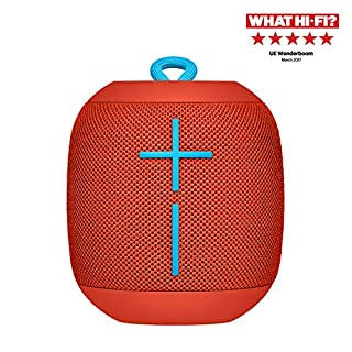 Ultimate Ears Wonderboom Portable Wireless Bluetooth Speaker, 360 ° Surround Sound, Waterproof, 2 Speaker Connection for Powerful Sound, 10h Battery, Red (B06VWH9S58) | Amazon price tracker / tracking, Amazon price history charts, Amazon price watches, Amazon price drop alerts
