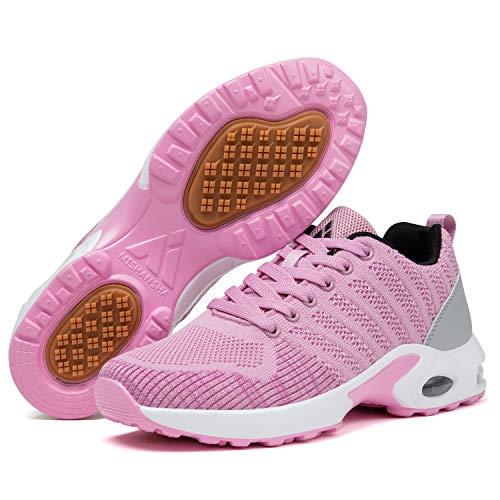 scarpe da ginnastica donna morbide Mishansha Air Scarpe Sportive Donna Scarpe da Golf Ginnastica Ragazze Traspiranti Fitness Scarpe da Running Femmina Morbide Rosa 37