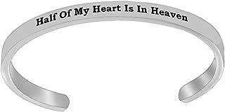 REEBOOO A Piece of My Heart is in Heaven Bracelet Memorial Gift Miscarriage Bracelet Memorial Jewelry