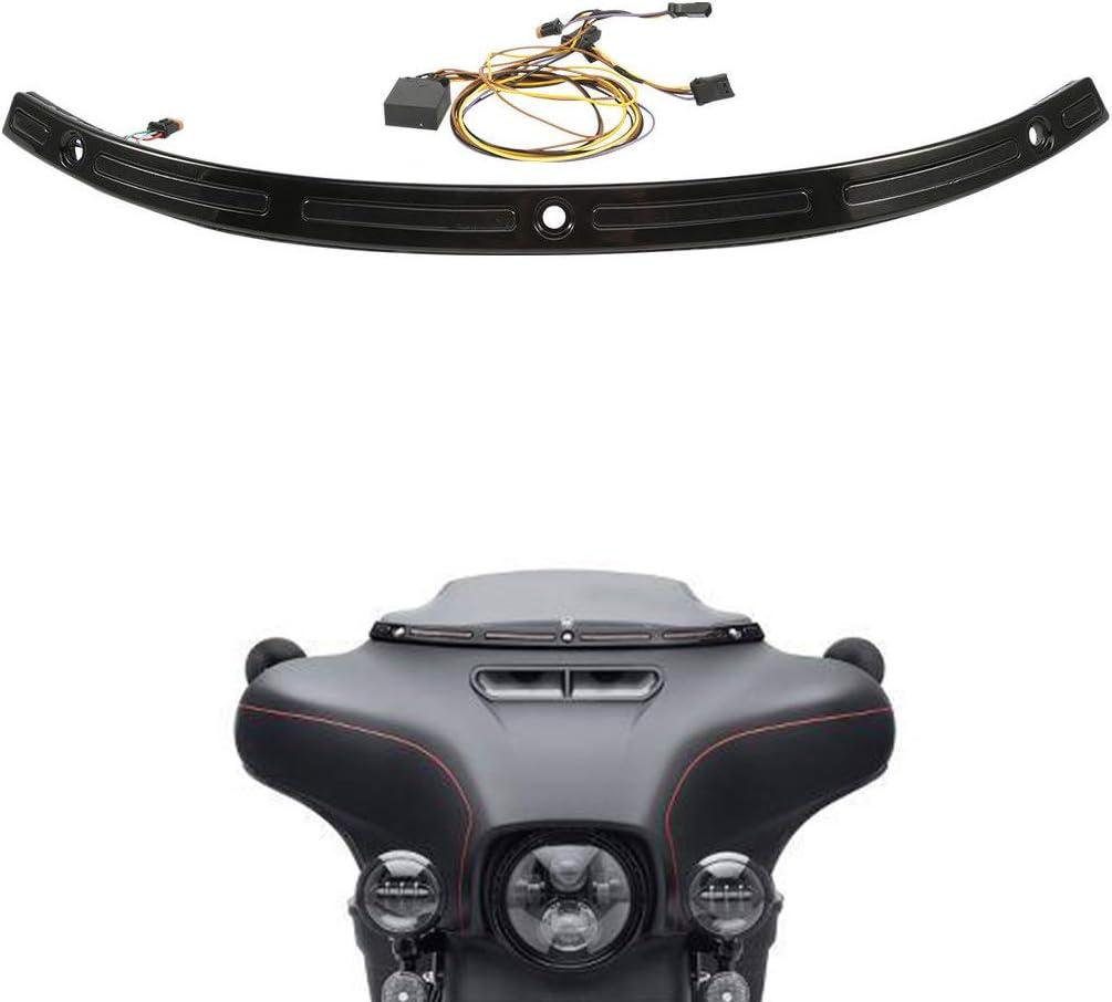 XMT-MOTO Illuminated Sale Windshield Trim fits Davidson To Gorgeous Harley for