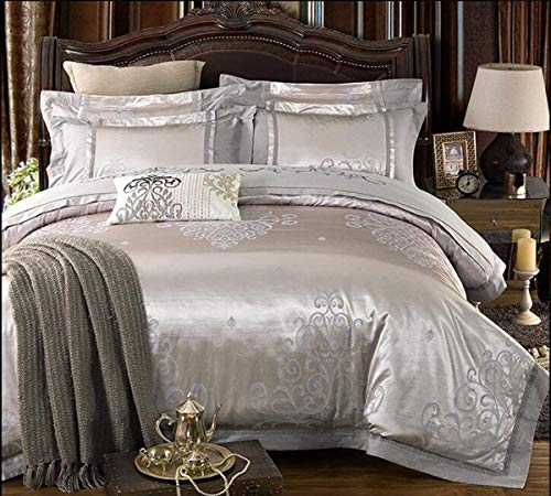 Read About HUROohj Satin Jacquard,The New Bedding Four Sets,European Style£¬Bedding Kits£¨ 4 Pcs...