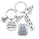 Bus Driver Keychain Gift,Bus Driver Appreciation Gift Bus Driver Thank You Gift Safe and Sound with This Awesome Bus Driver!&Thank You For Keeping Me Safe