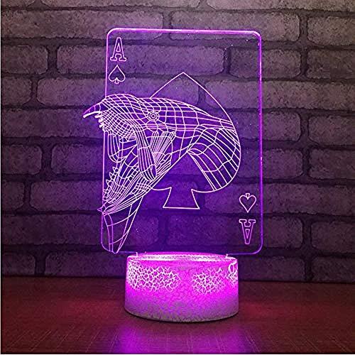 Kinder Geschenk Nachttisch Leuchte Dekor Led Baby Schlaf Kreative 3D-Spielkarte Eine Modellierung Tischlampe Cartoon USB Nachtlichter