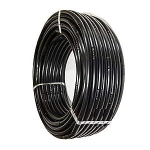 Suinga. TUBERIA negra 16mm con GOTEROS integrados cada 33 cm. Bobina de 100 METROS. Espesor pared 1,2 mm. Caudal 2,1 l/h…