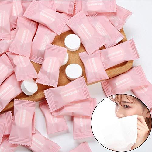 HUNDAN 30 Unids Blanco Spunlace No Tejido Comprimido Cara Limpia Toallas De Tela Toalla De Papel Toalla Tableta Viaje Camping Suministros De Baño