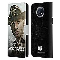 Head Case Designs オフィシャル ライセンス商品 オフィシャルAMC The Walking Dead デピュティ・ハット Rick Grimes レガシー Xiaomi Redmi Note 9T 5G 専用レザーブックウォレット カバーケース