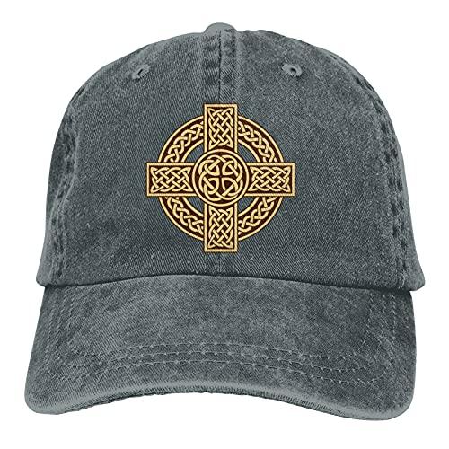 Celtic Cross Irish Scottish Baseball Cap Cowboy Hat Unisex Adult Trucker Hats Adjustable Washable Deep Heather