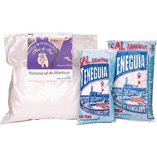LOUXA Sal Marina Teneguia Meersalz Set aus La Palma 100% ökologisch 2,5 kg (18,40 € / kg)