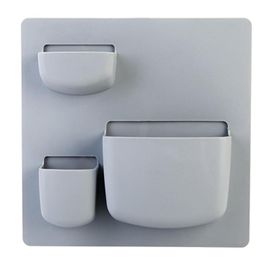 ラジエーターゴミ箱許容できるラック貼り付けタイプ収納ボックス仕上げ棚収納ボックスキッチンバスルーム壁収納ラックホームウォールマウント , tb-1715 blue gray