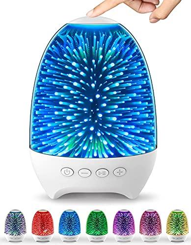Bluetooth-högtalare nattlampor, Bluetooth-högtalare MP3-spelare, touch-kontroll nattlampa, dimbar RGB flerfärgad byte LED-bordslampa för sovrum, bästa presenten till vuxna tonåringar pojkar och flickor