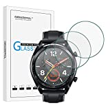 Newzerol [4 Pack] Ersatz für Huawei Watch GT / GT Active Bildschirmschutzfolie, 2.5D Arc Edges 9 Festigkeit High Definition Panzerglas Schutzfolie Anti-Kratzer - Klar