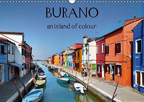 Burano an island of colour 2019: Burano, the most colourful gem of the Venetian lagoon (Calvendo Places) [Idioma Inglés]