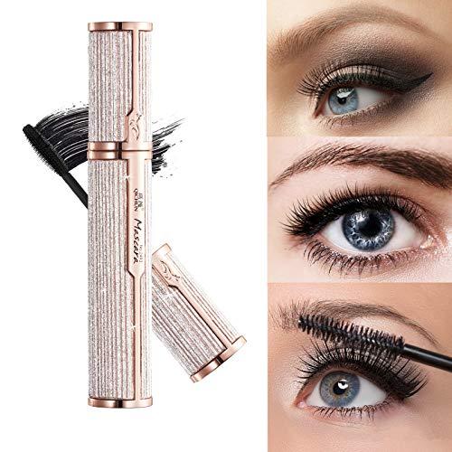 Subsky Vegan Wimperntusche Mascara - Wimpernverlängerung Schwarz für Augen Schminken & Verlängerung Natürlicher Wimpern langlebige Make-up (schwarz)