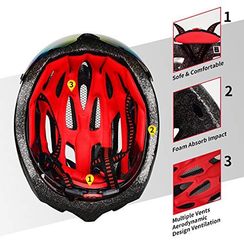 514kmr7mrUL XINERTER Adult Bike Helmet Road Bike