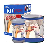 Kit Epoxi Sport - Resina y endurecedor para fabricación o reparación de autopartes, chasis, Raquetas de Tenis, pádel, Modelos de Aviones y Otros…
