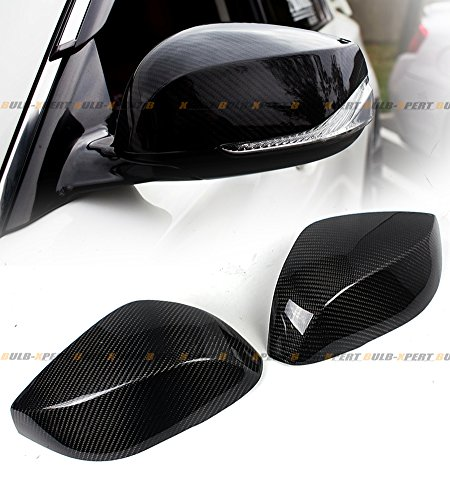 Cuztom Tuning Fits for 2014-2020 Infiniti Q50 Q50S Direct Add-on Carbon Fiber Side Mirror Cover Caps Pair
