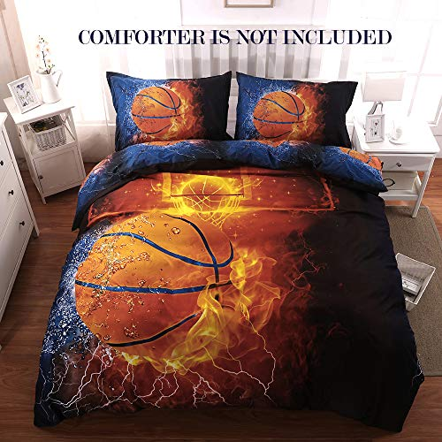Giveuwant 3D Sports Basketball Duvet Cover Set...