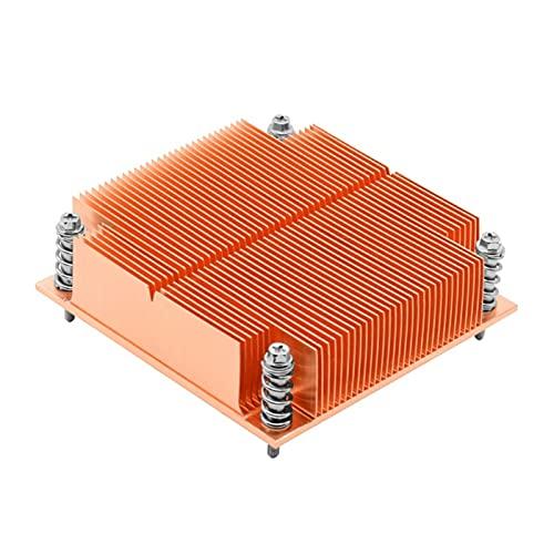 yiping Radiador del Servidor pasivo LGA1200 1U Chasis Control Industrial Todas Las Aletas de enfriamiento de Cobre.