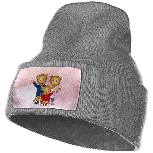 Daniel Tiger's Neighborhood Winter Beanie Hip Hop Hat Crochet Hair Ball Knitted Hat Deep Heather