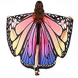 WEXCV Damen Mädchen Schmetterling Flügel Cape Schal mit Maske Poncho Schal Wrap Pixie Ladies...