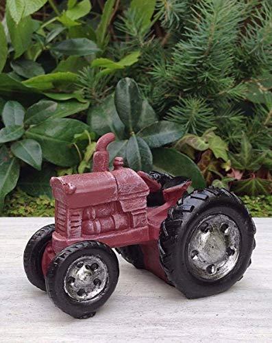 Miniature Dollhouse Fairy Garden Furniture ~ Mini Farm Red Tractor ~ New