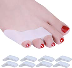 8 Pack Pinky Toe Straightener, Little Toe Separator for Tailors Bunion and Overlapping Toe, Bunionette Corrector for Women and Men
