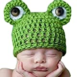 Newin Star Strickmütze Häkel-von Linda Frosch, Regieklappe Baby-Fotografie, Hut, handgefertigt, Geschenk für Neugeborenes Baby