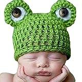 Newin Star Gorro de Ganchillo de Linda Rana,Atrezzo fotografia,Sombrero de bebé...