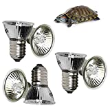 6 Heizungs Schildkröten Wärmeemitter,UVA UVB Wärmelampe Reptilenlampe, Lampe Reptil Heizung...