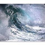 murando Fotomurales Ola Azul 400x280 cm XXL Papel pintado tejido no tejido Decoración de Pared decorativos Murales moderna de Diseno Fotográfico naturaleza oceano agua 101103-5