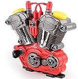 Brigamo 1183 – Juego de herramientas para niños para coche con juguetes – Construye tu motor que funciona con luz y sonido