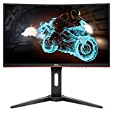 AOC C24G1A 24' Curved Frameless Gaming Monitor, FHD 1920x1080, 1500R, VA, 1ms MPRT, 165Hz (144Hz supported), FreeSync Premium, Height adjustable