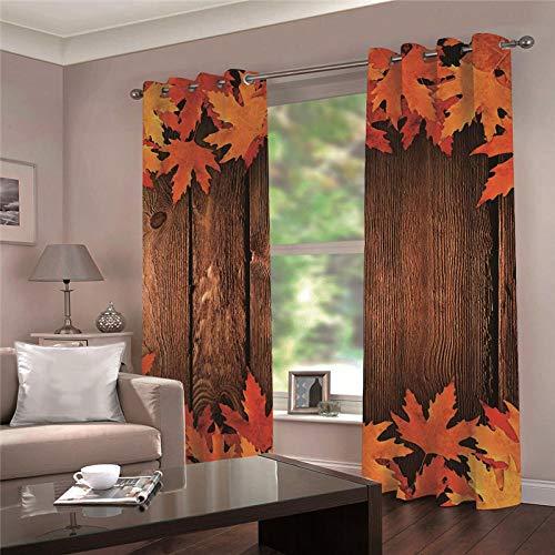 cortinas dormitorio juvenil hojas
