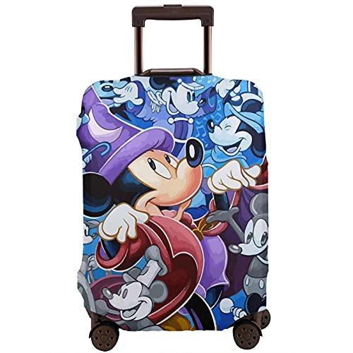 Funda para equipaje de viaje, diseño retro de Disneyland Mickey Mouse de dibujos animados, protector elástico lavable, antiarañazos, para equipaje de 18 a 32 pulgadas