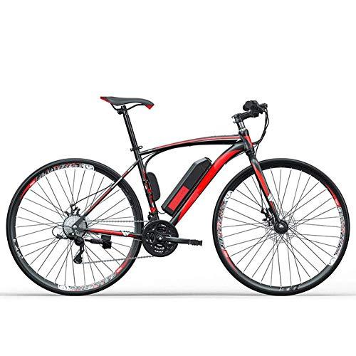"""AYHa Adulto carretera bicicleta eléctrica, 250W 36V batería extraíble de 27"""" Ciudad de litio eléctrico ciclomotor 27 Velocidad de Transmisión Engranajes Frenos de disco doble unisex,rojo,8AH"""