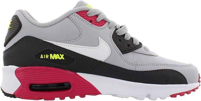 Nike Air Max 90 LTR☛ Wolf Gris/Blanc-Rush Rose Volt (GS), (Wolf ...
